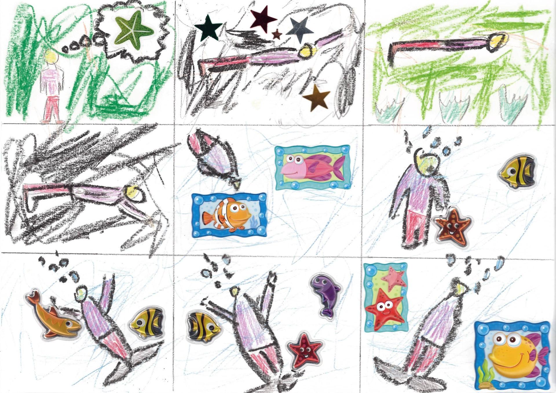 Komiks przygotowany przez uczestnika konkursu.