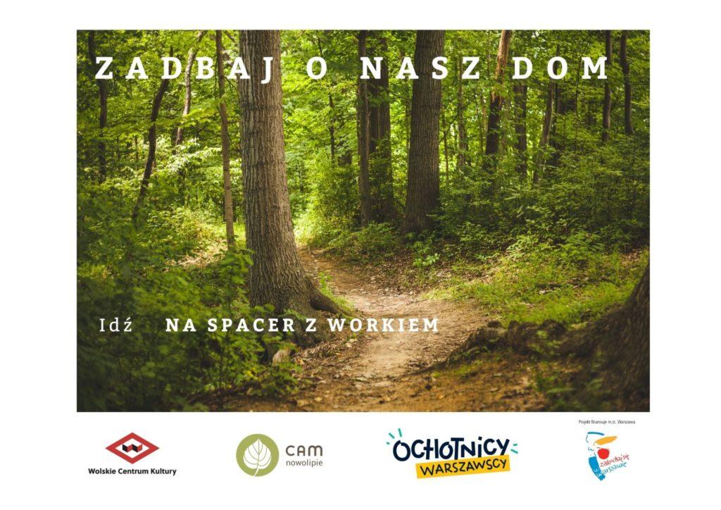 Las oraz napis Zadbaj o nasz dom