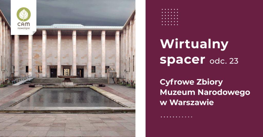 Fasada Muzeum Narodowego w Warszawie.