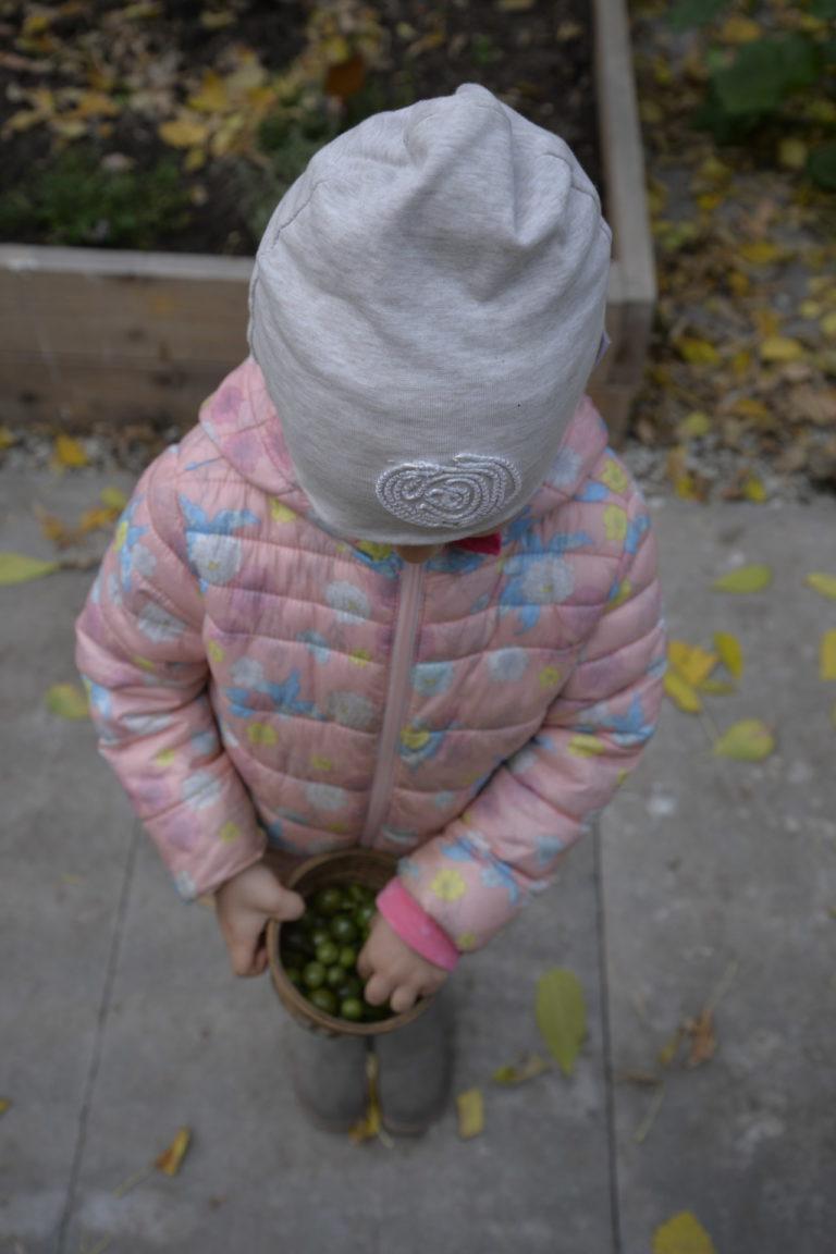Dziewczynka z nasionami.