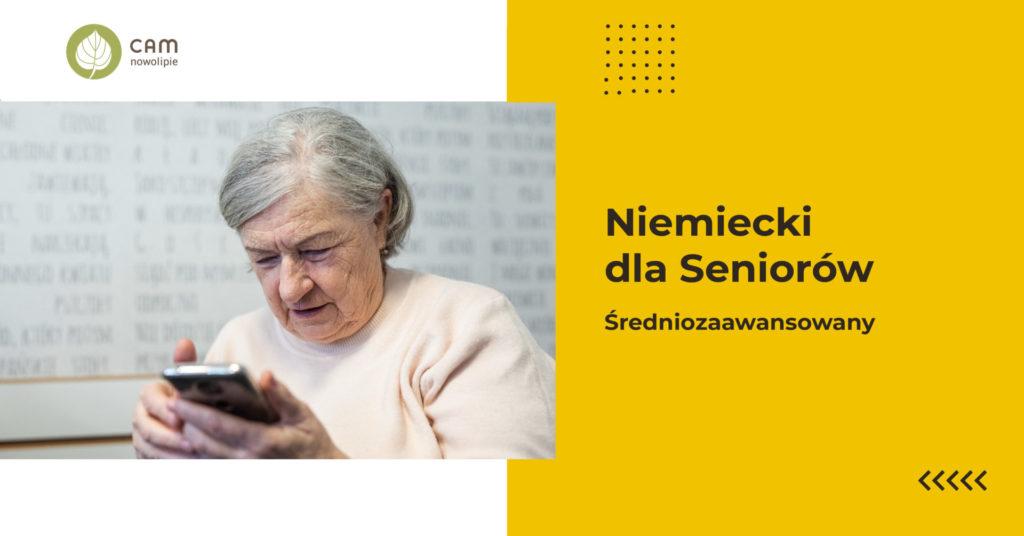 grafikaz napisem: Niemiecki dla seniorów, średniozaawansowani