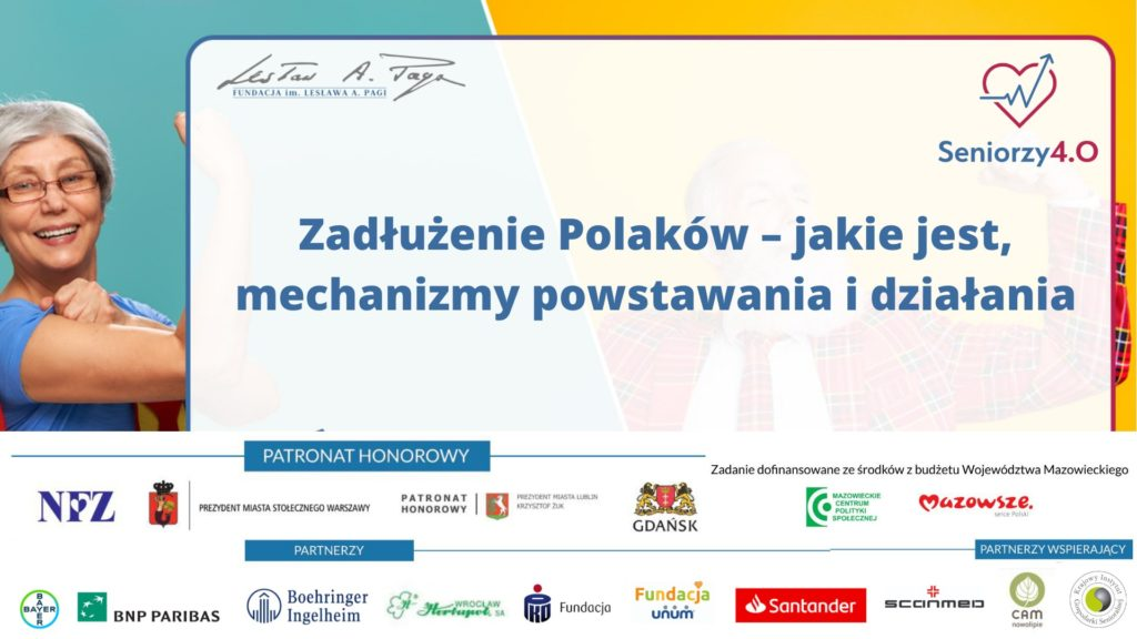 Grafika z napisem: Zadłużenie Polaków