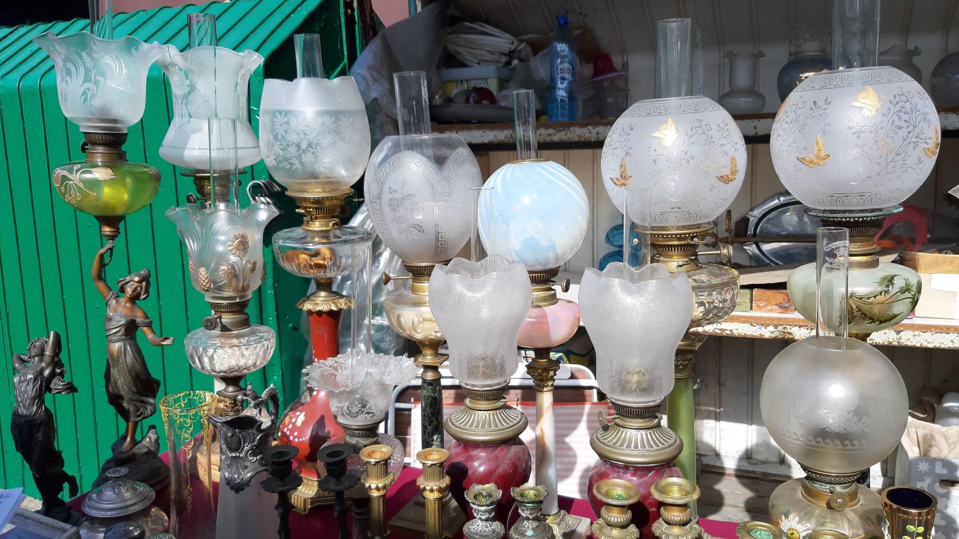 Lampy z kolekcji pana Dariusza.