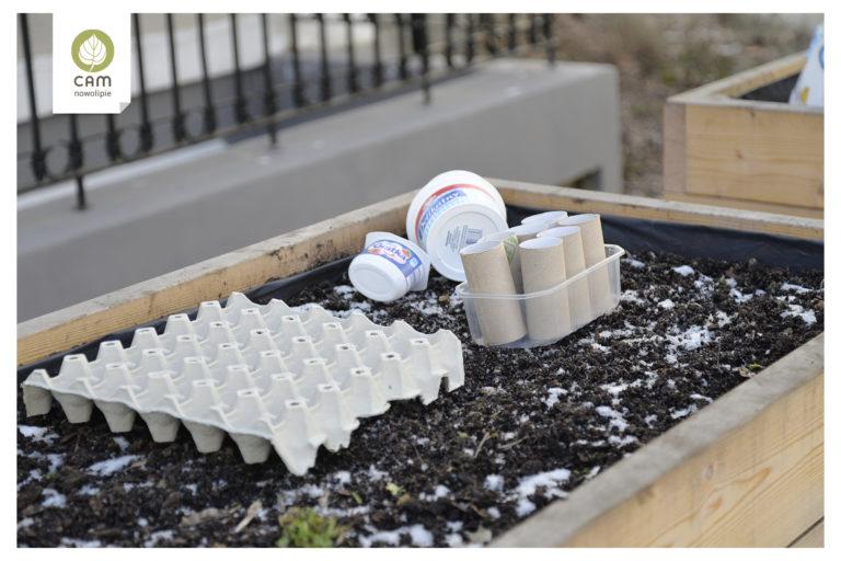 Wytłoczki po jajkach, rolki po papierze i kubeczki po jogurtach. Recyklingowe doniczki do sadzenia roslin.