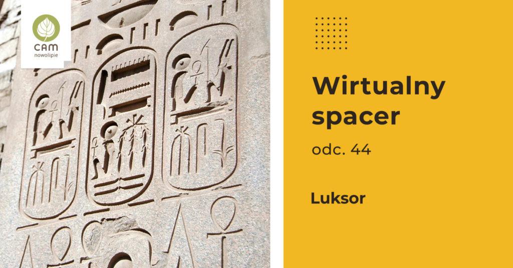 Tablica z hieroglifami w Luksorze