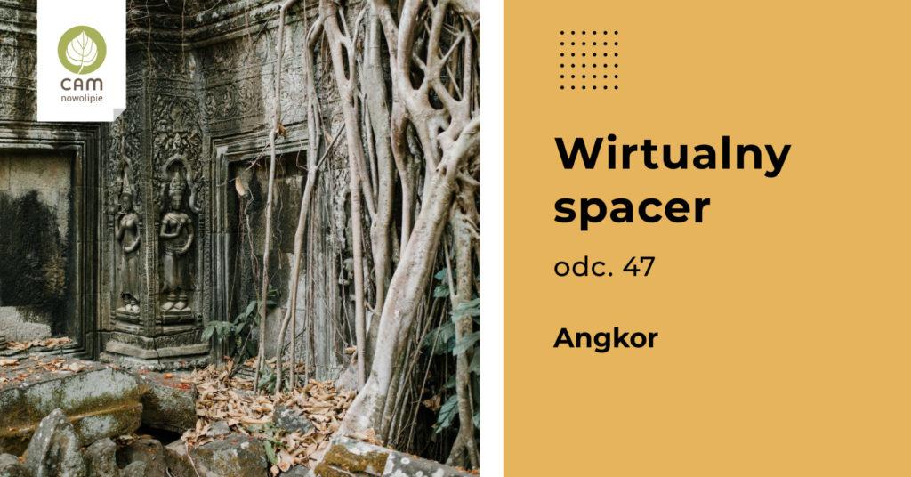 Grafika podzielona na dwie części. Po lewej zdjęcie zarośniętego dżunglą budynku. Ogromne korzenie otaczają fragment budynku. Po prawej informacje o wydarzeniu.