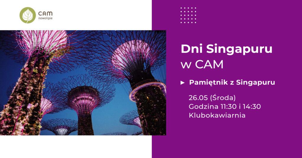grrafika z informacją o spotkaniu Pamiętnik z Singapuru
